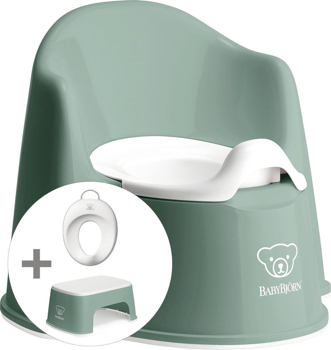 BABYBJÖRN Babybjörn startpakket bestaande uit Plaspotje Zetel, Opstapkrukje en Toilettrainer - Diepg