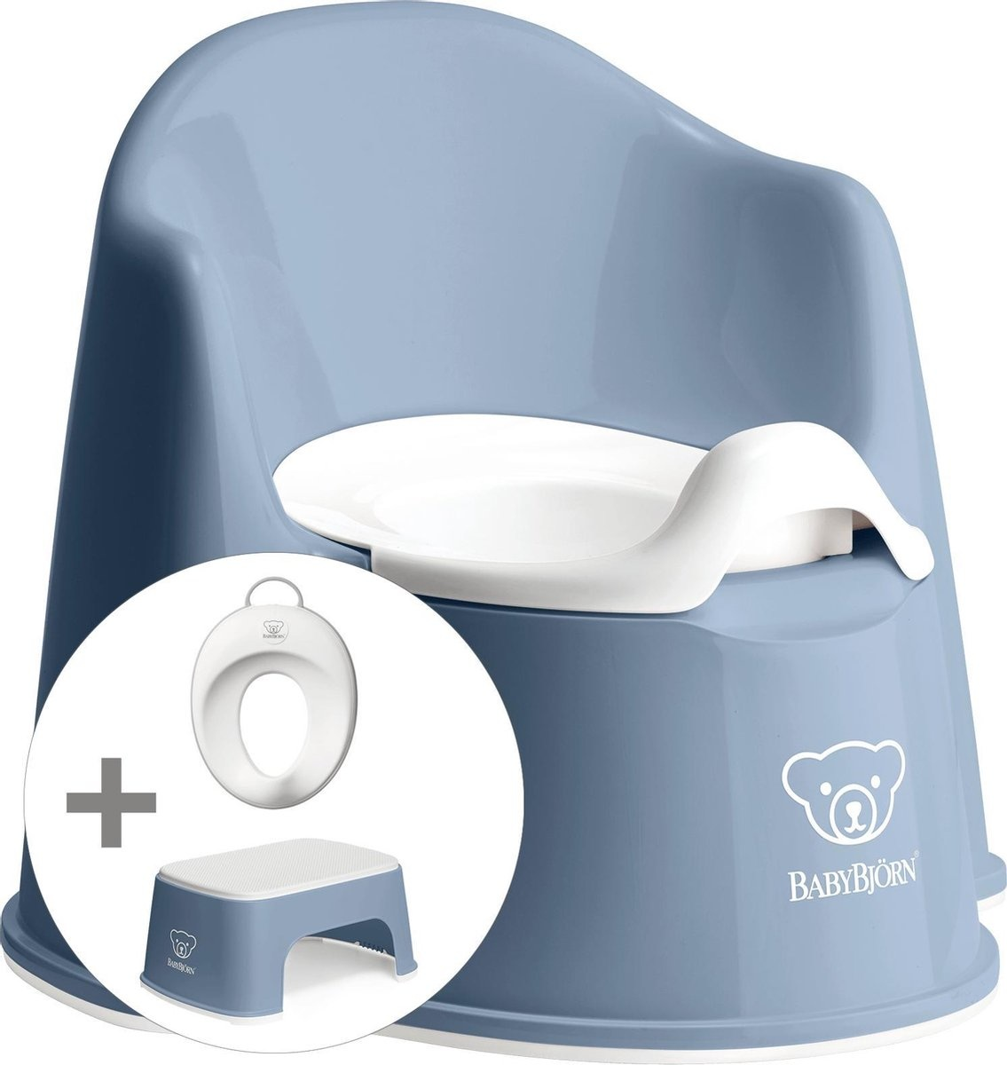 BABYBJÖRN Babybjörn startpakket bestaande uit Plaspotje Zetel, Opstapkrukje en Toilettrainer - Diepb