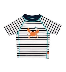 Lässig Lässig Splash & Fun Korte mouw Rashguard / zwemshirt - sailor navy 6 maanden