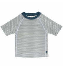 Lässig Lässig Splash & Fun Korte mouw Rashguard / zwemshirt Striped blue
