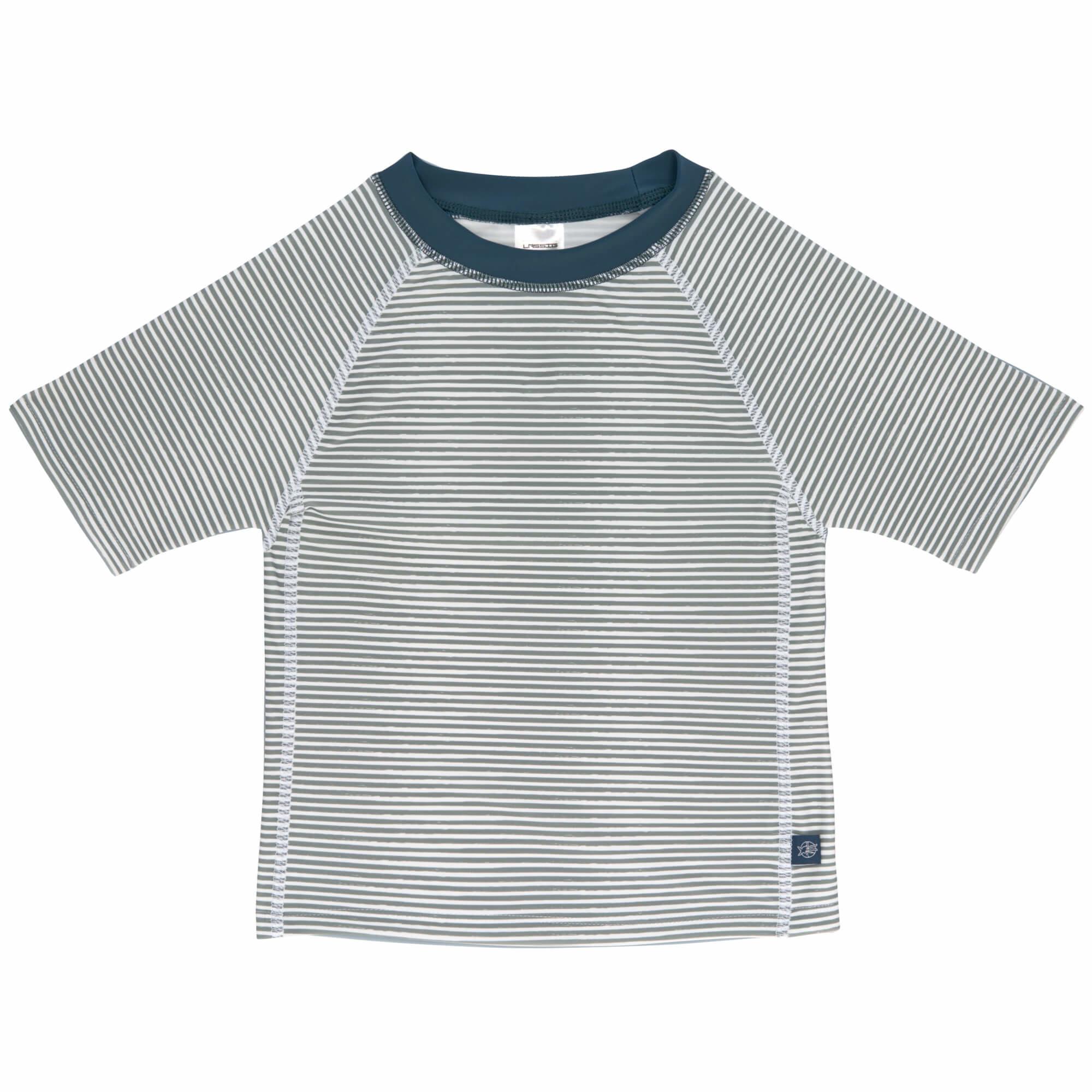 Lässig Splash & Fun Korte mouw Rashguard / zwemshirt Striped blue