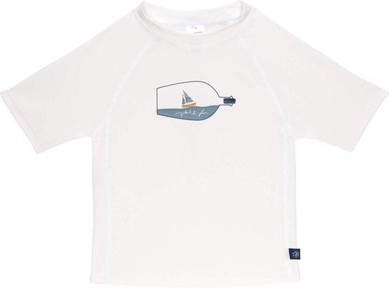 Lässig Splash & Fun Korte mouw Rashguard / zwemshirt Ship in a bottle, white