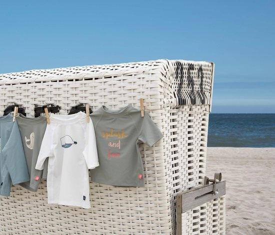 Lässig Lässig Splash & Fun Korte mouw Rashguard / zwemshirt Ship in a bottle, white