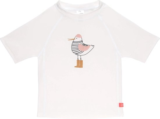 Lässig Lässig Splash & Fun Korte mouw Rashguard / zwemshirt Mrs. Seagull white