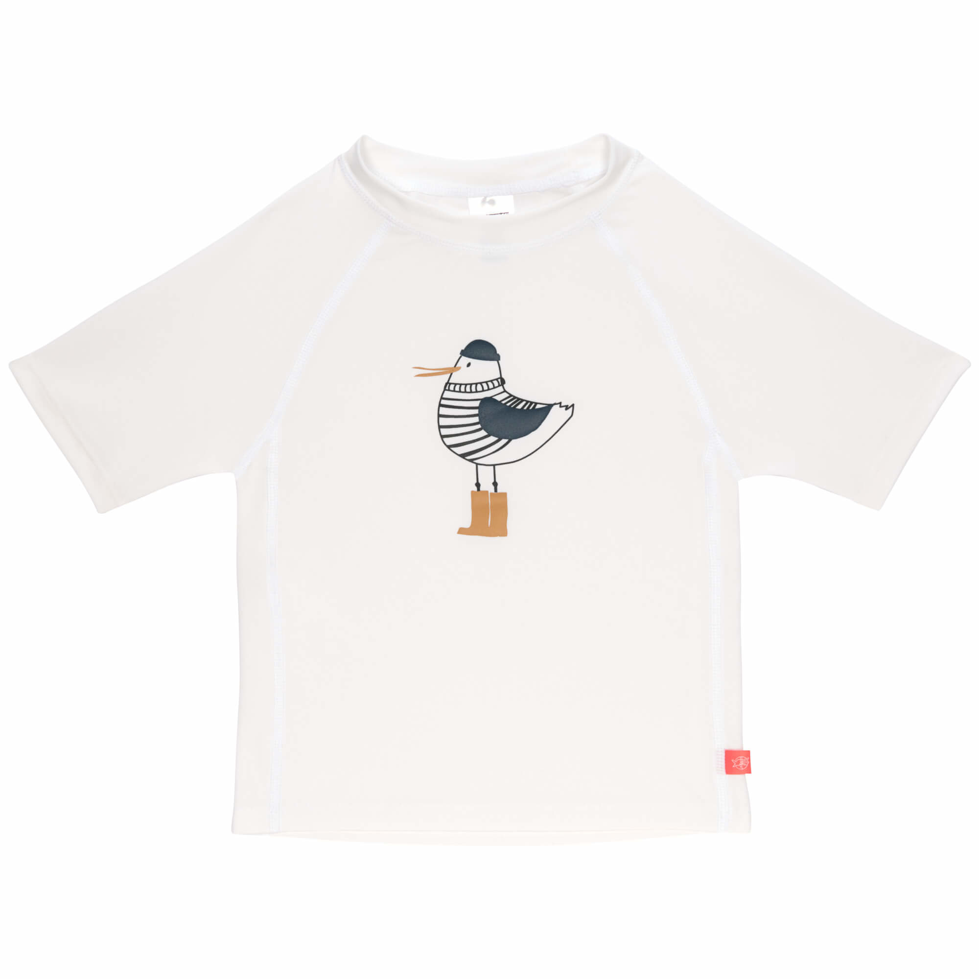 Lässig Lässig Splash & Fun Korte mouw Rashguard / zwemshirt Mr. Seagull white