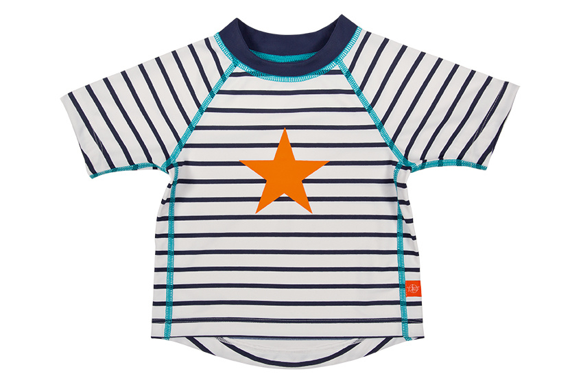 Lässig Lässig Splash & Fun Korte mouw Rashguard / zwemshirt - sailor 6 maanden