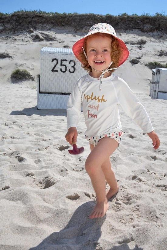 Lässig Lässig Splash & Fun Langarm Rashguard / Badeshirt weiß / pink, 24 Monate, Größe 92