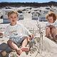 Lässig Lässig Splash & Fun Langarm Rashguard / Badeshirt weiß / blau 36 Monate, Größe 98