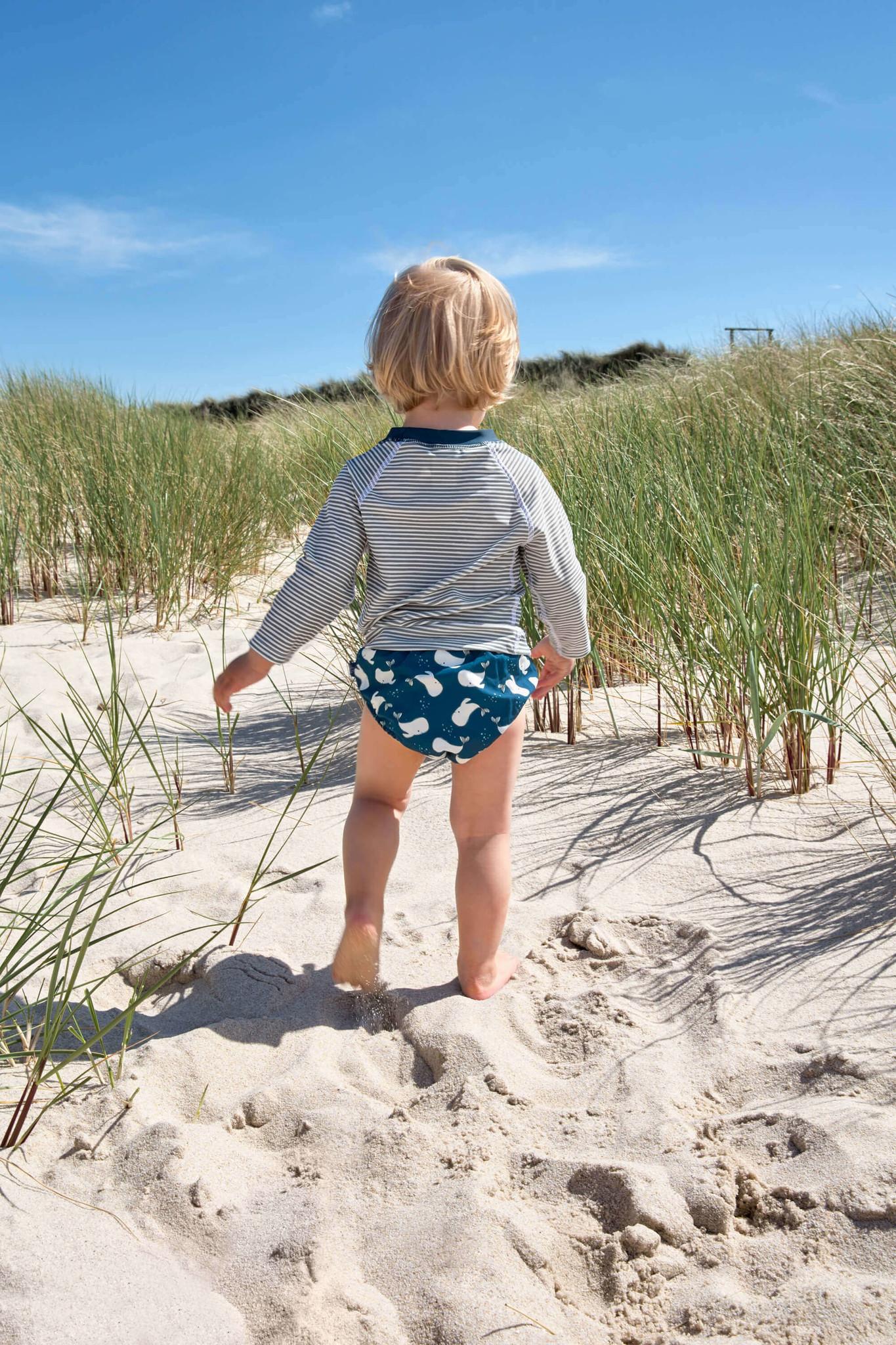 Lässig Lässig Splash & Fun Lange mouw Rashguard / zwemshirt Striped blue