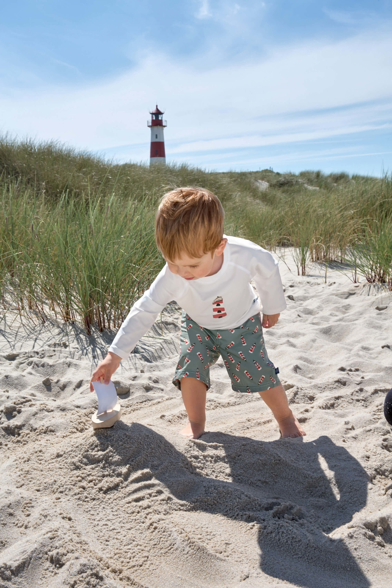 Lässig Lässig Splash & Fun Lange mouw Rashguard / zwemshirt Lighthouse white