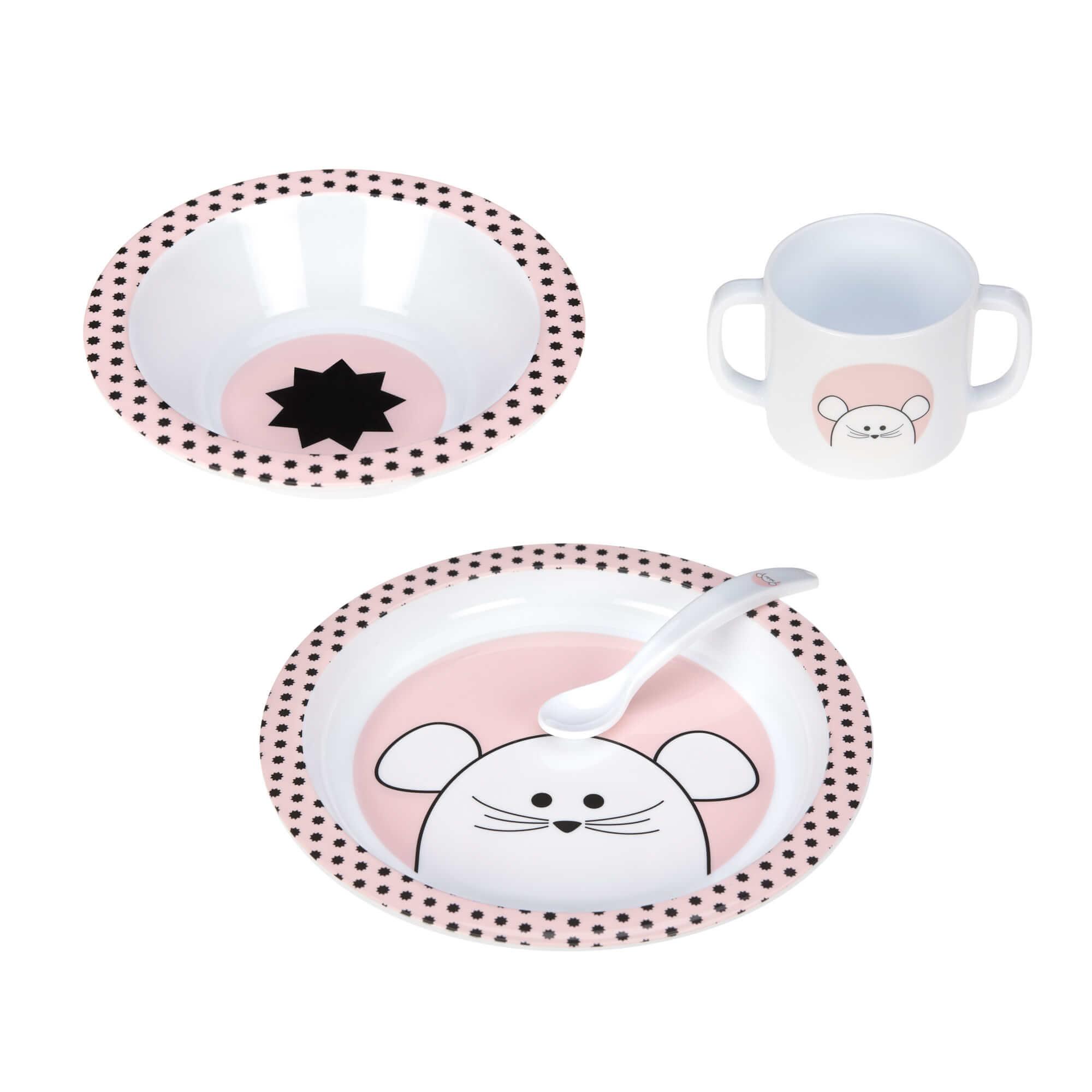 Lässig kinderserviesje 4-delig Little Chums Mouse