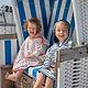 Lässig Lässig Splash & Fun Beach Poncho jongens Stripes navy