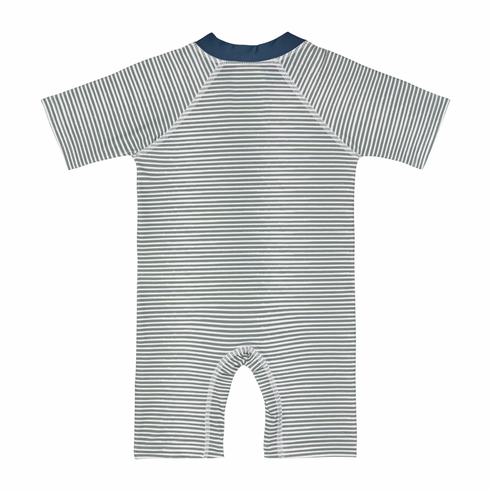 Lässig Lässig Splash & Fun korte mouw zon- en zwempak Striped blue