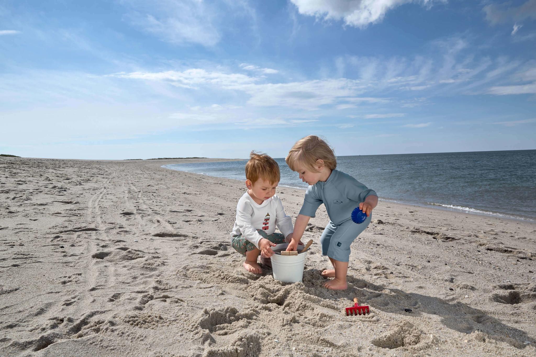 Lässig Lässig Splash & Fun korte mouw zon- en zwempak Ship in a bottle blue