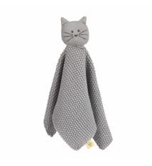 Lässig Lässig gebreide baby knuffel 100% organic cotton, Little Chums cat