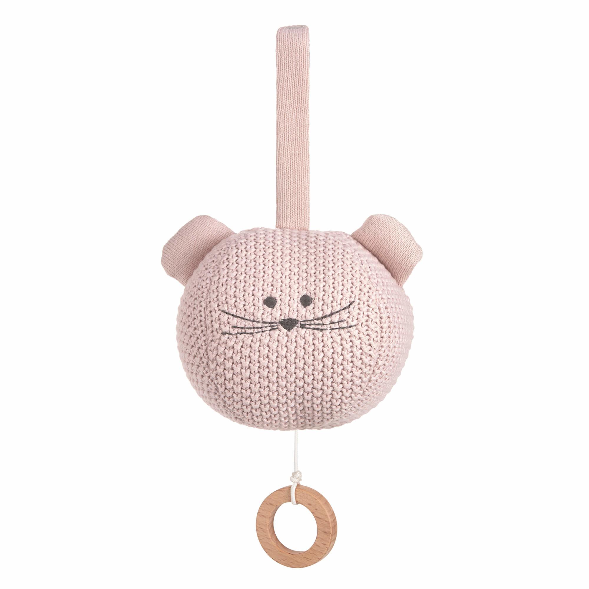 Lässig gebreide muziek mobiel, 100% organic cotton, Little Chums Mouse