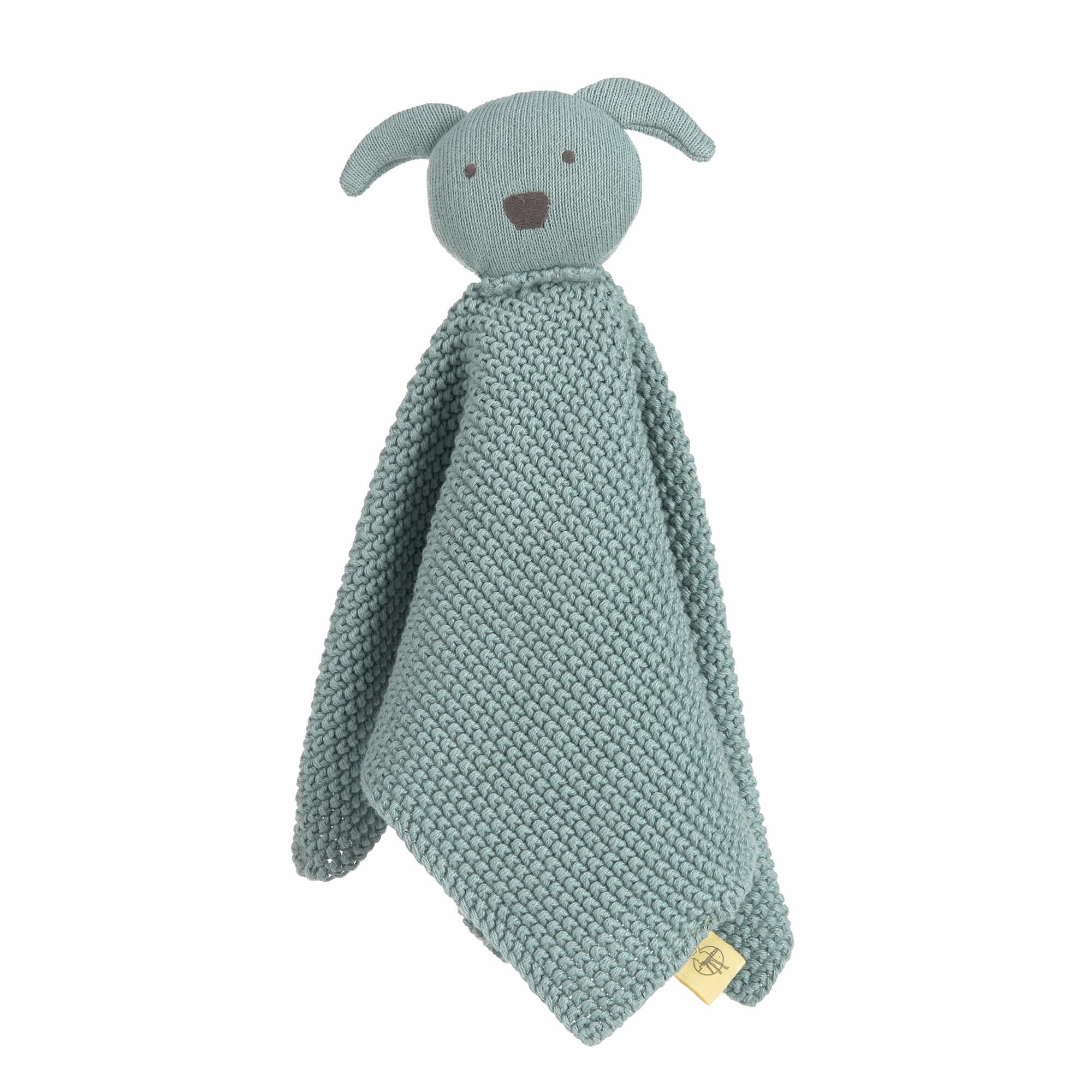Lässig gebreide baby knuffel 100% organic cotton, Little Chums dog