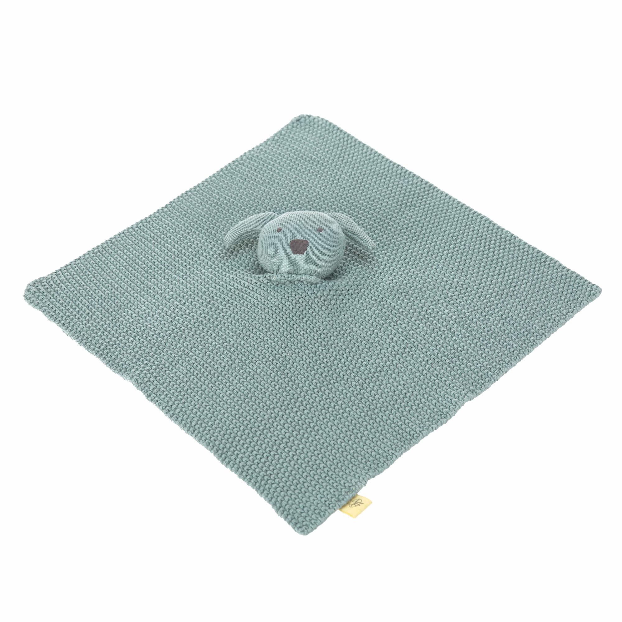 Lässig Lässig gebreide baby knuffel 100% organic cotton, Little Chums dog