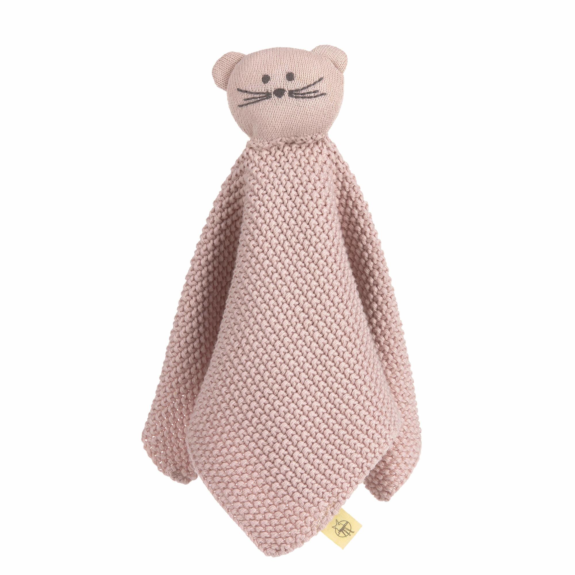 Lässig gebreide baby knuffel 100% organic cotton, Little Chums Mouse
