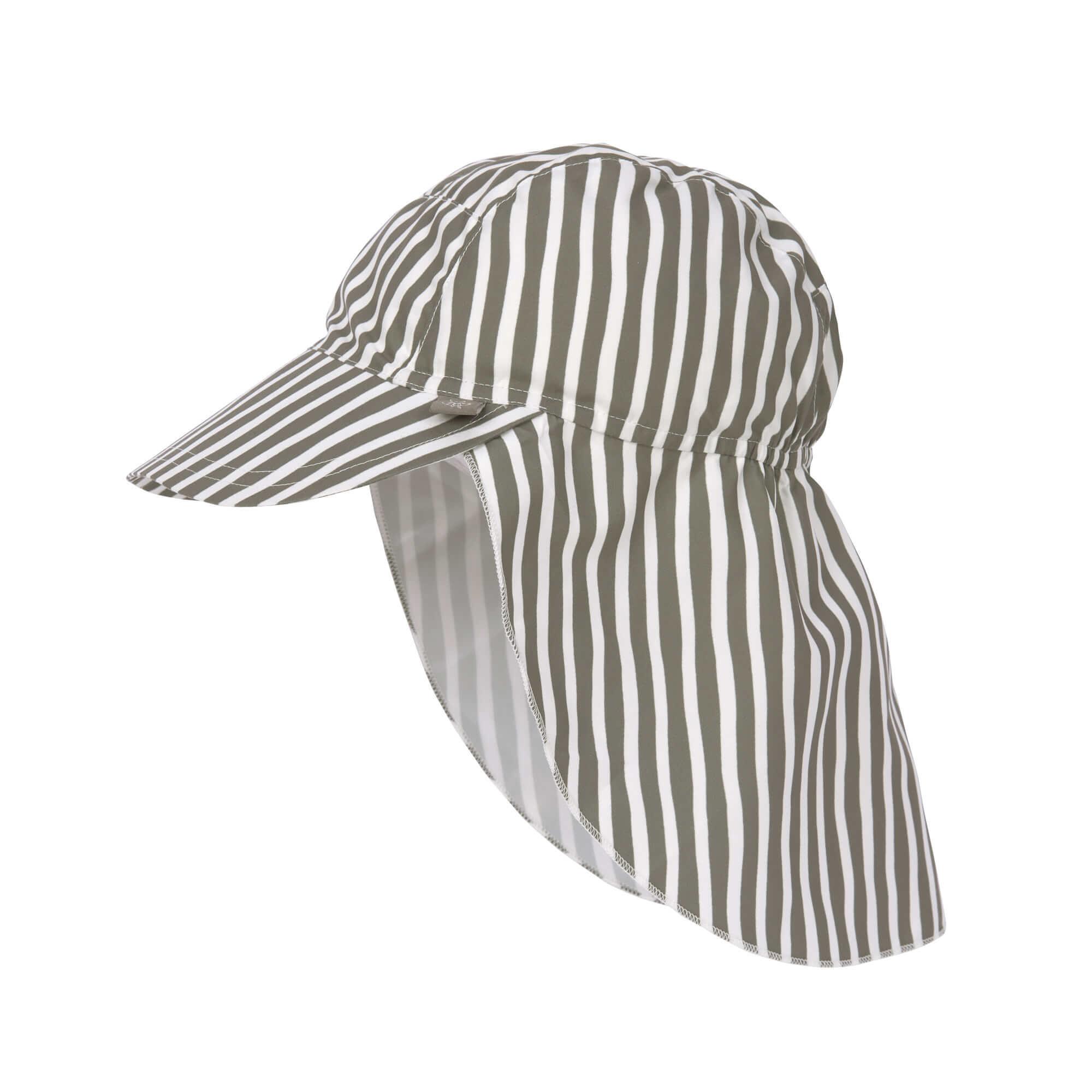 Lässig Splash & Fun Sun Protection Zonnehoed Flaphoed met UV bescherming - Stripes olive 19-36 maand