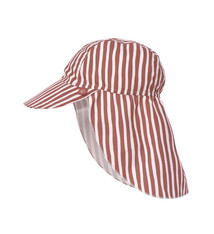 Lässig Lässig Splash & Fun Sun Protection Zonnehoed Flaphoed met UV bescherming - Stripes red 19-36 maanden, Maat: 50/51