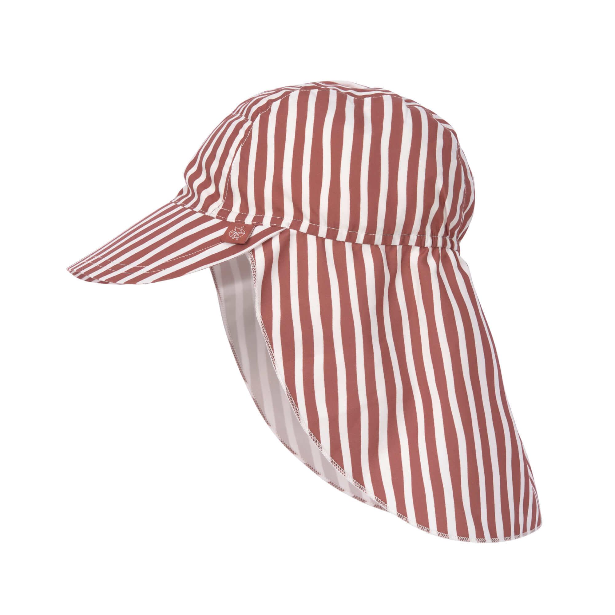 Lässig Splash & Fun Sun Protection Zonnehoed Flaphoed met UV bescherming - Stripes red 19-36 maanden