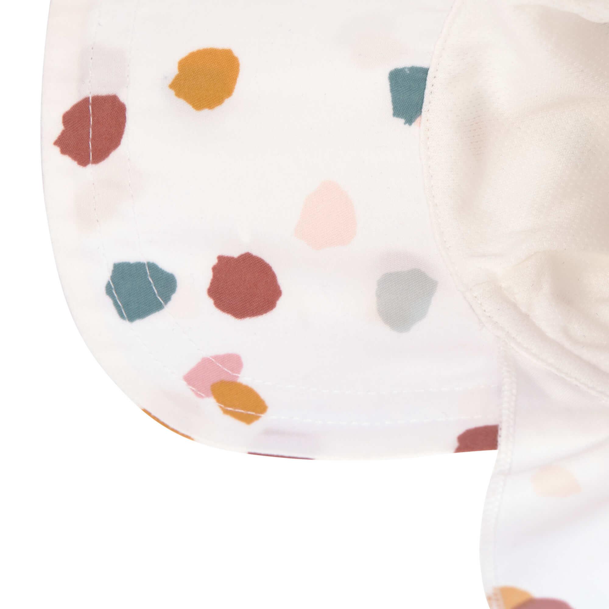 Lässig Lässig Splash & Fun Sun Protection Zonnehoed Flaphoed met UV bescherming - Spotted white 19-36 maanden, Maat: 50/51