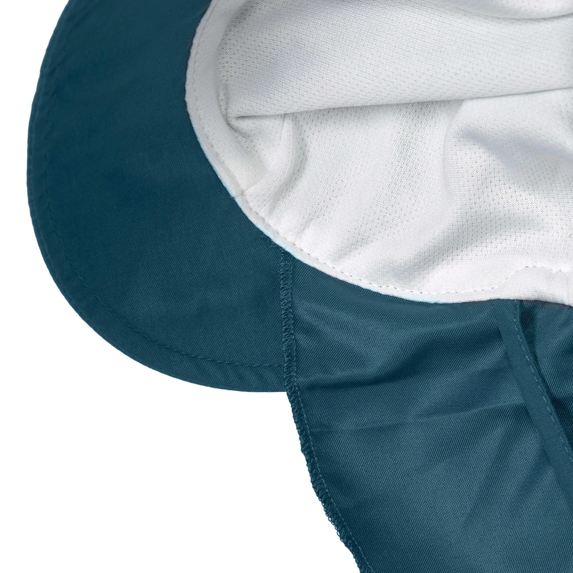 Lässig Lässig Splash & Fun Sun Protection Zonnehoed Flaphoed met UV bescherming - Navy (SS21) 19-36 maanden, Maat: 50/51