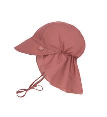Lässig Lässig Splash & Fun Sun Protection Zonnehoed Flaphoed met UV bescherming - Rosewood 19-36 maanden, Maat: 50/51