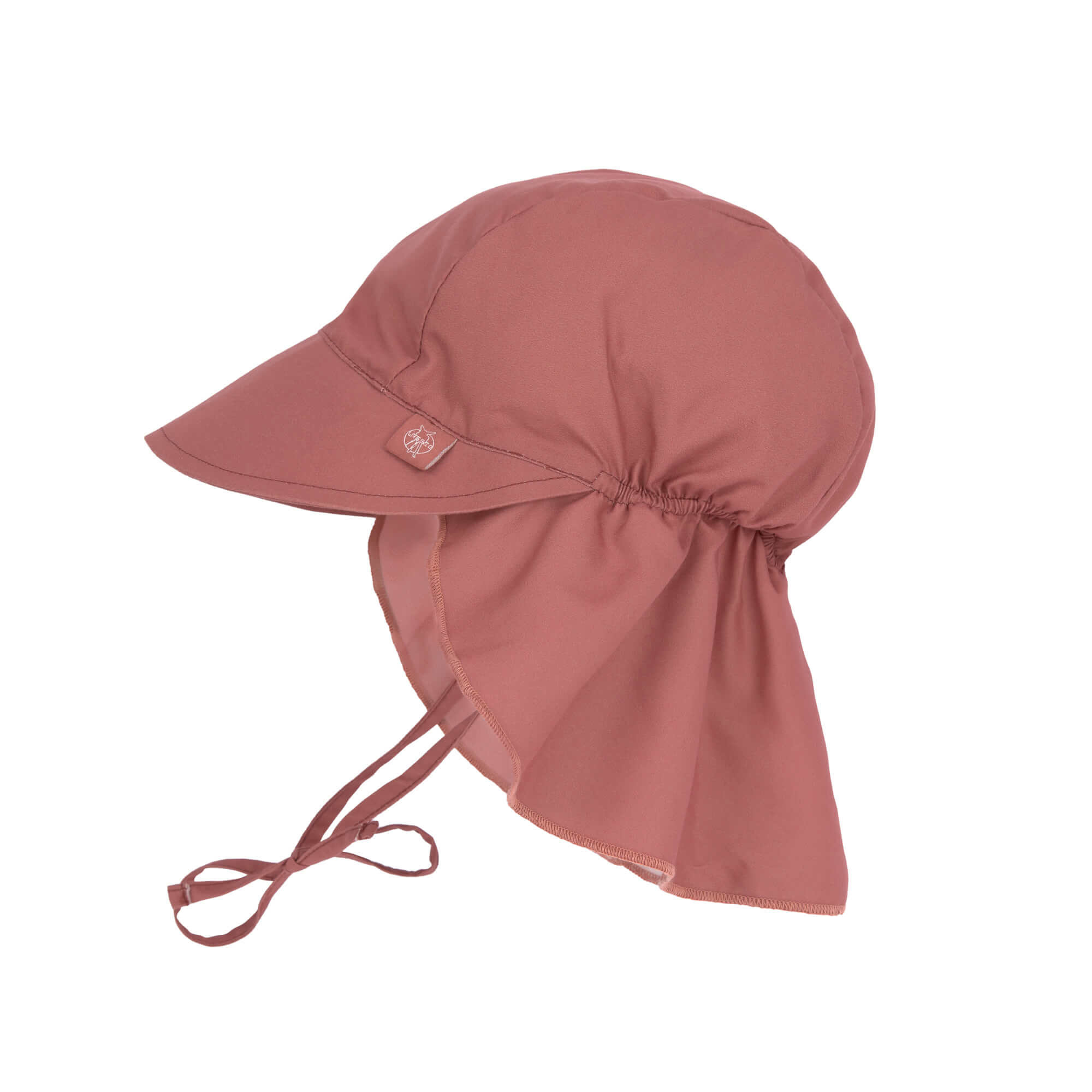 Lässig Splash & Fun Sun Protection Zonnehoed Flaphoed met UV bescherming - Rosewood 19-36 maanden, M