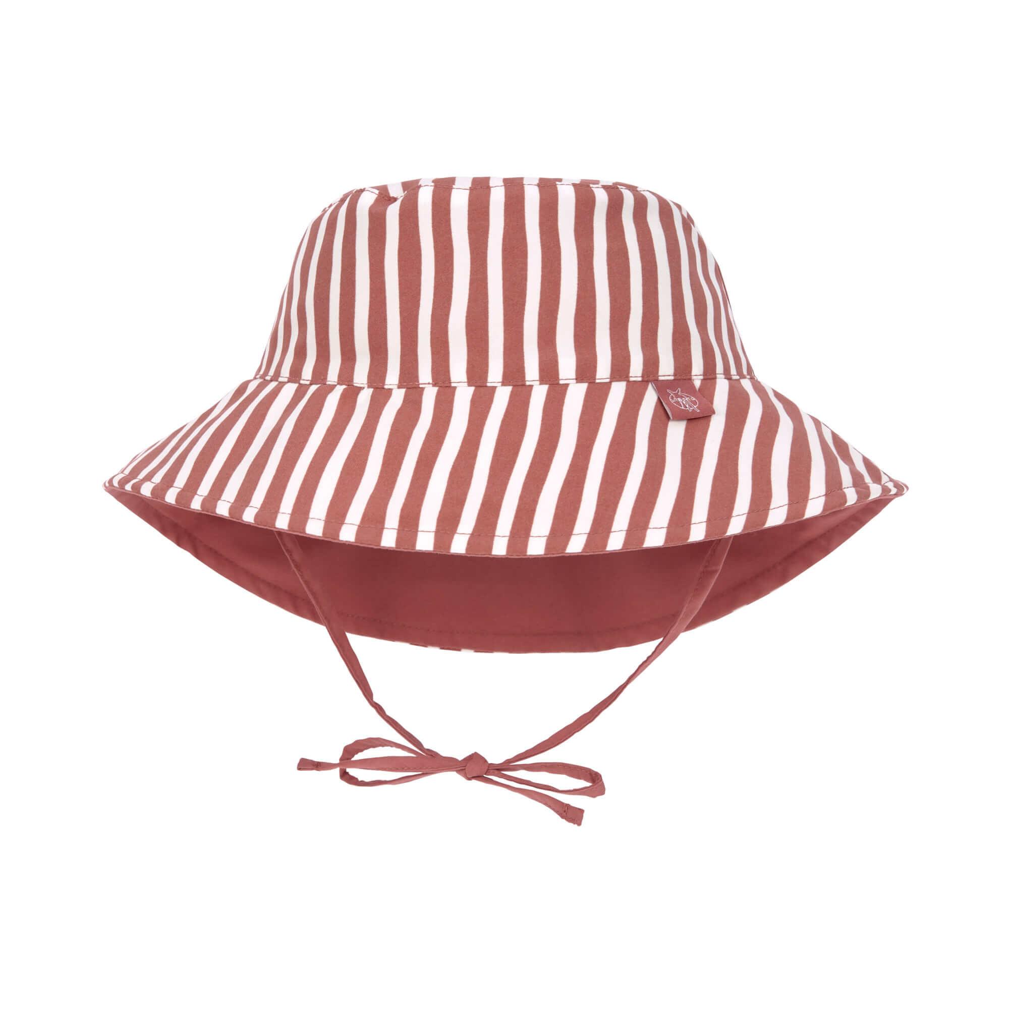 Lässig Splash & Fun Sun Protection Zonnehoed Vissershoed met UV bescherming - Stripes red 19-36 maan