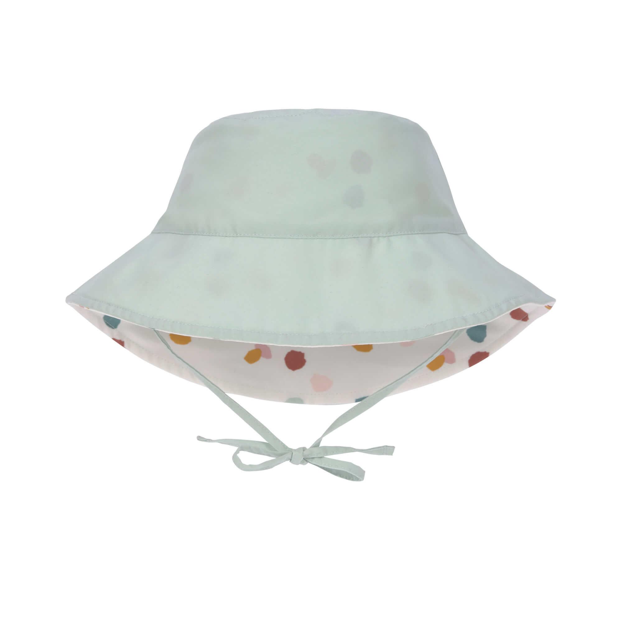 Lässig Lässig Splash & Fun Sun Protection Zonnehoed Vissershoed met UV bescherming - Spotted white 19-36 maanden, Maat: 50/51