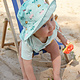 Lässig Lässig Splash & Fun Sun Protection Zonnehoed Vissershoed met UV bescherming - Caravan mint 19-36 maanden, Maat: 50/51