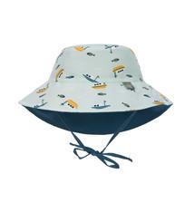 Lässig Lässig Splash & Fun Sun Protection Zonnehoed Vissershoed met UV bescherming - Boat mint 19-36 maanden, Maat: 50/51