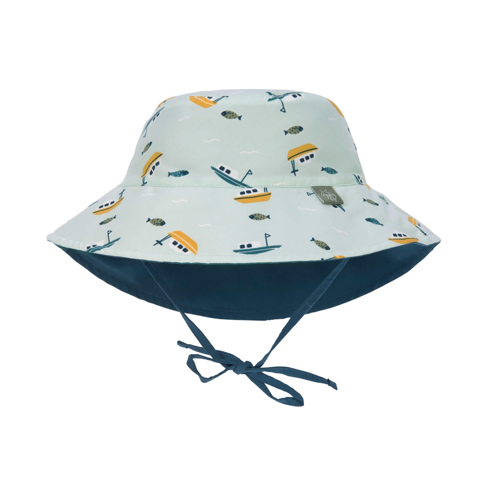 Lässig Splash & Fun Sun Protection Zonnehoed Vissershoed met UV bescherming - Boat mint 19-36 maande
