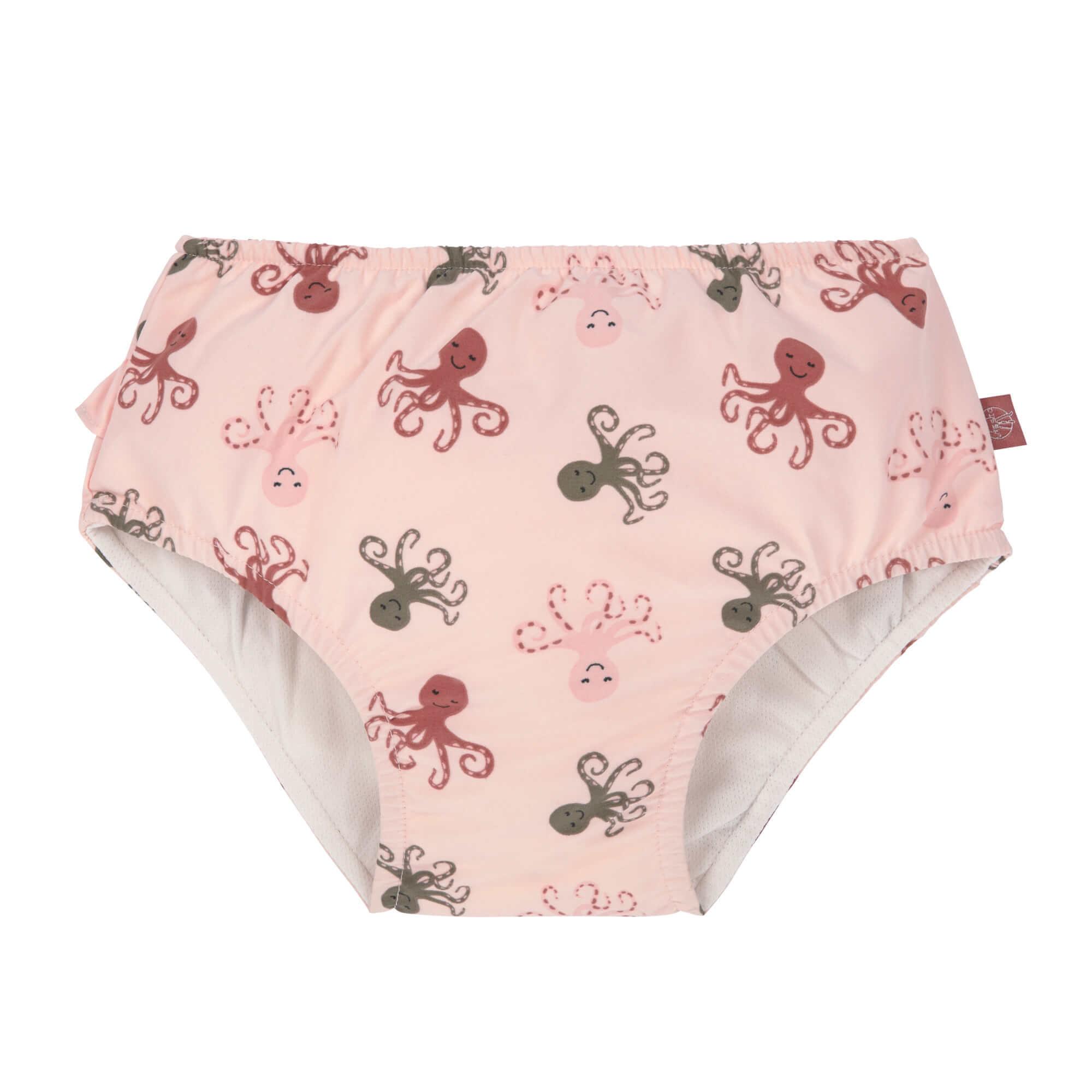 Lässig Splash & Fun Zwembroekje met luier - Octopus rose