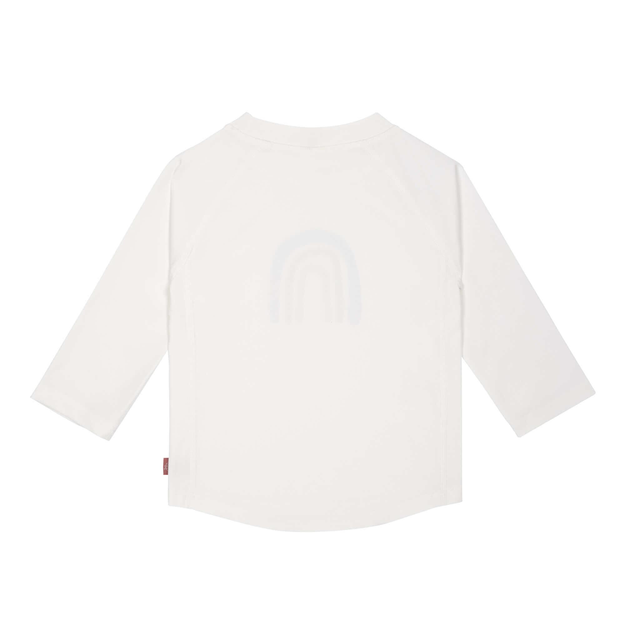 Lässig Lässig Splash & Fun Lange mouw Rashguard UV zwemshirt – Rainbow white