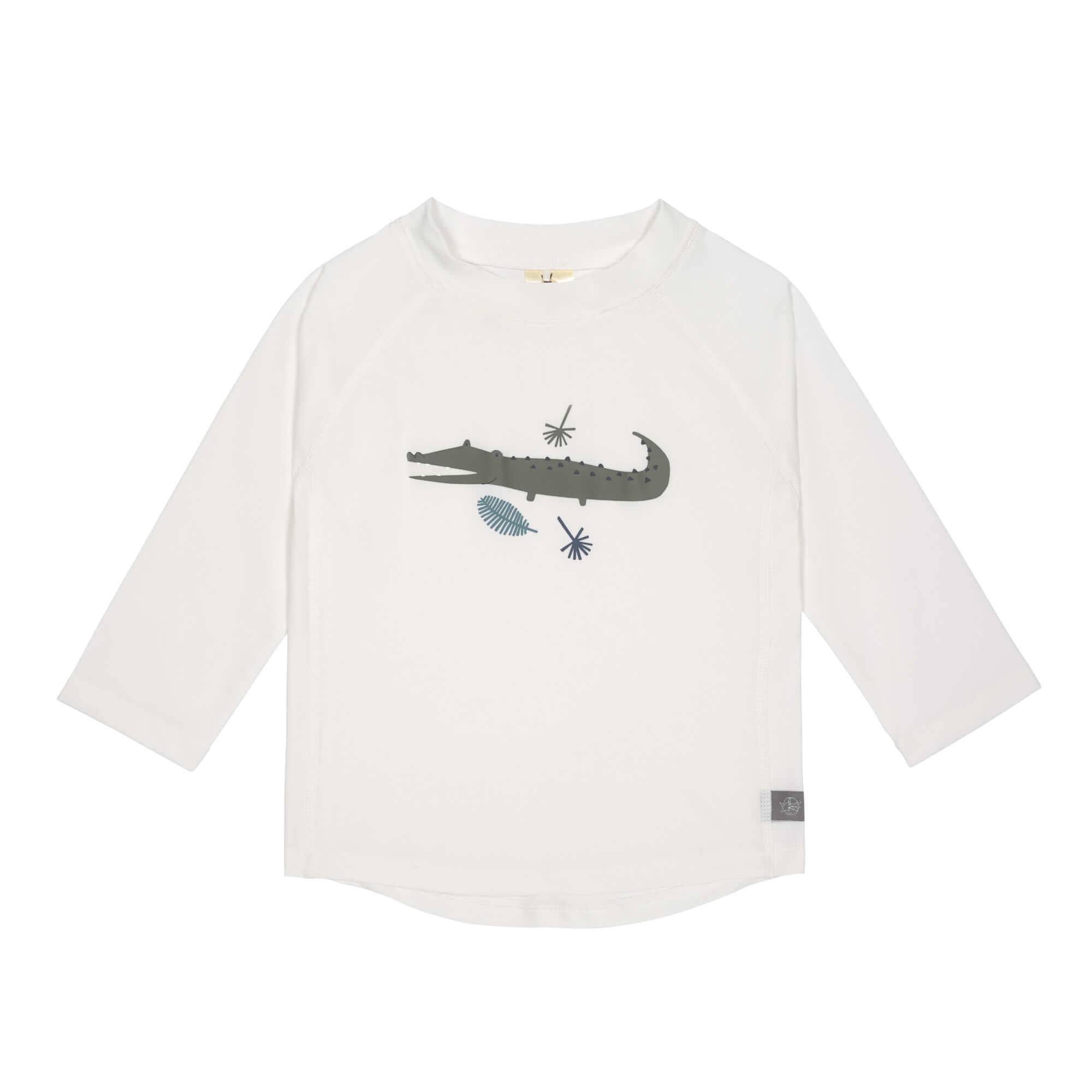 Lässig Splash & Fun Lange mouw Rashguard UV zwemshirt - Crocodile white