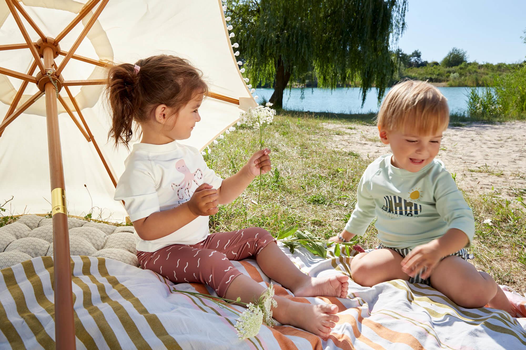 Lässig Lässig Splash & Fun Lange mouw Rashguard UV zwemshirt – Caravan mint