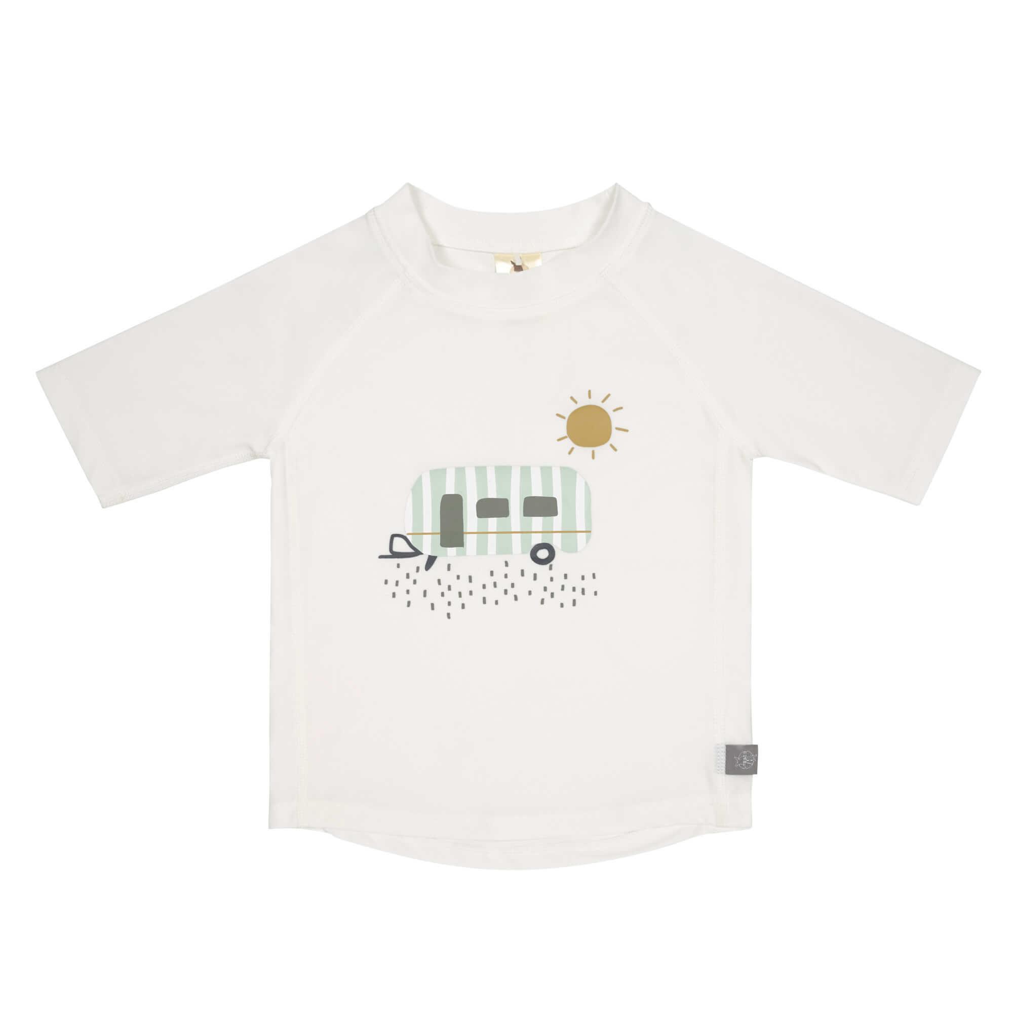 Lässig Splash & Fun Korte mouw Rashguard UV zwemshirt - Caravan white