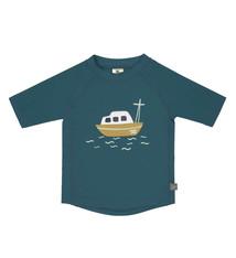 Lässig Lässig Splash & Fun Korte mouw Rashguard UV zwemshirt – Boat blue