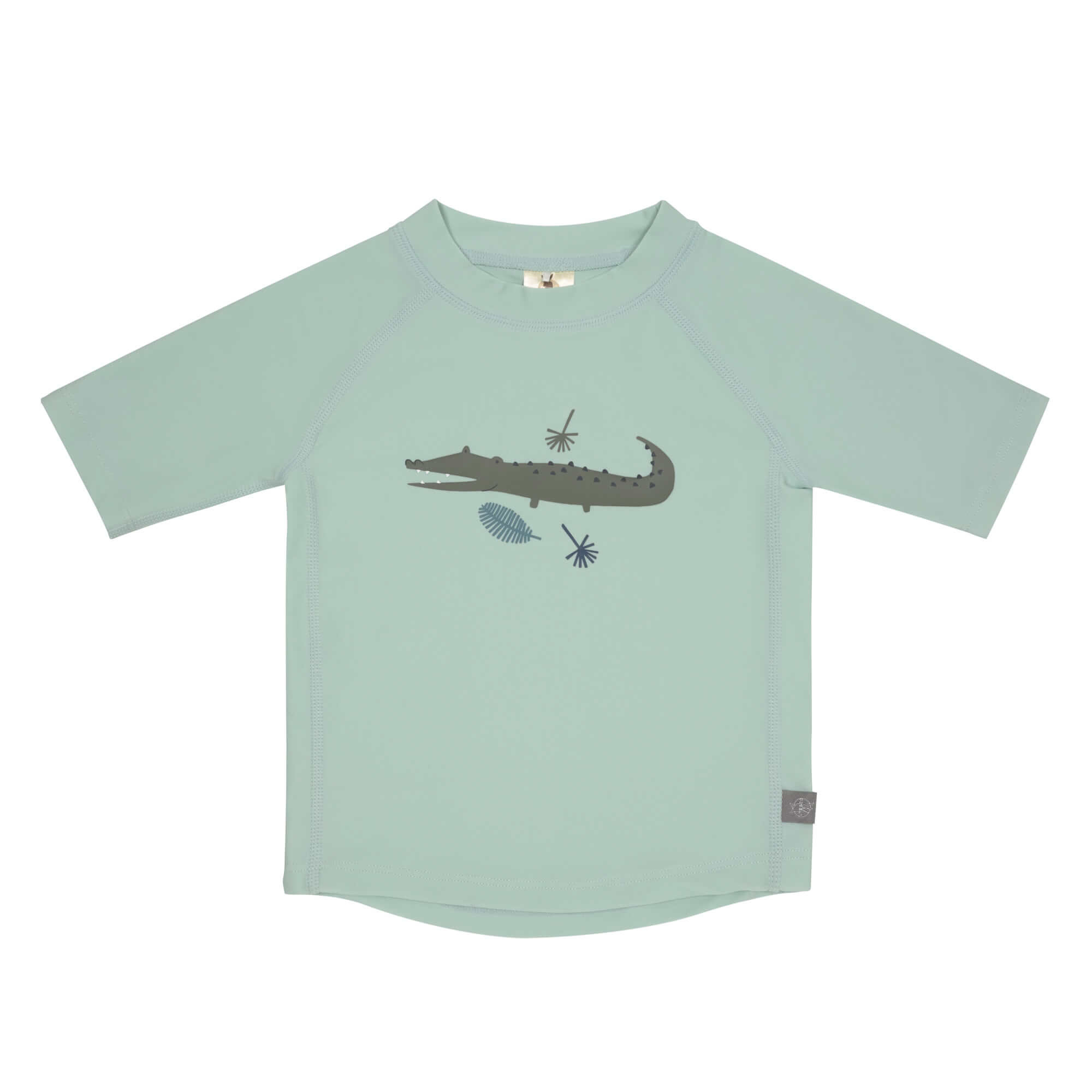 Lässig Splash & Fun Korte mouw Rashguard UV zwemshirt - Crocodile mint