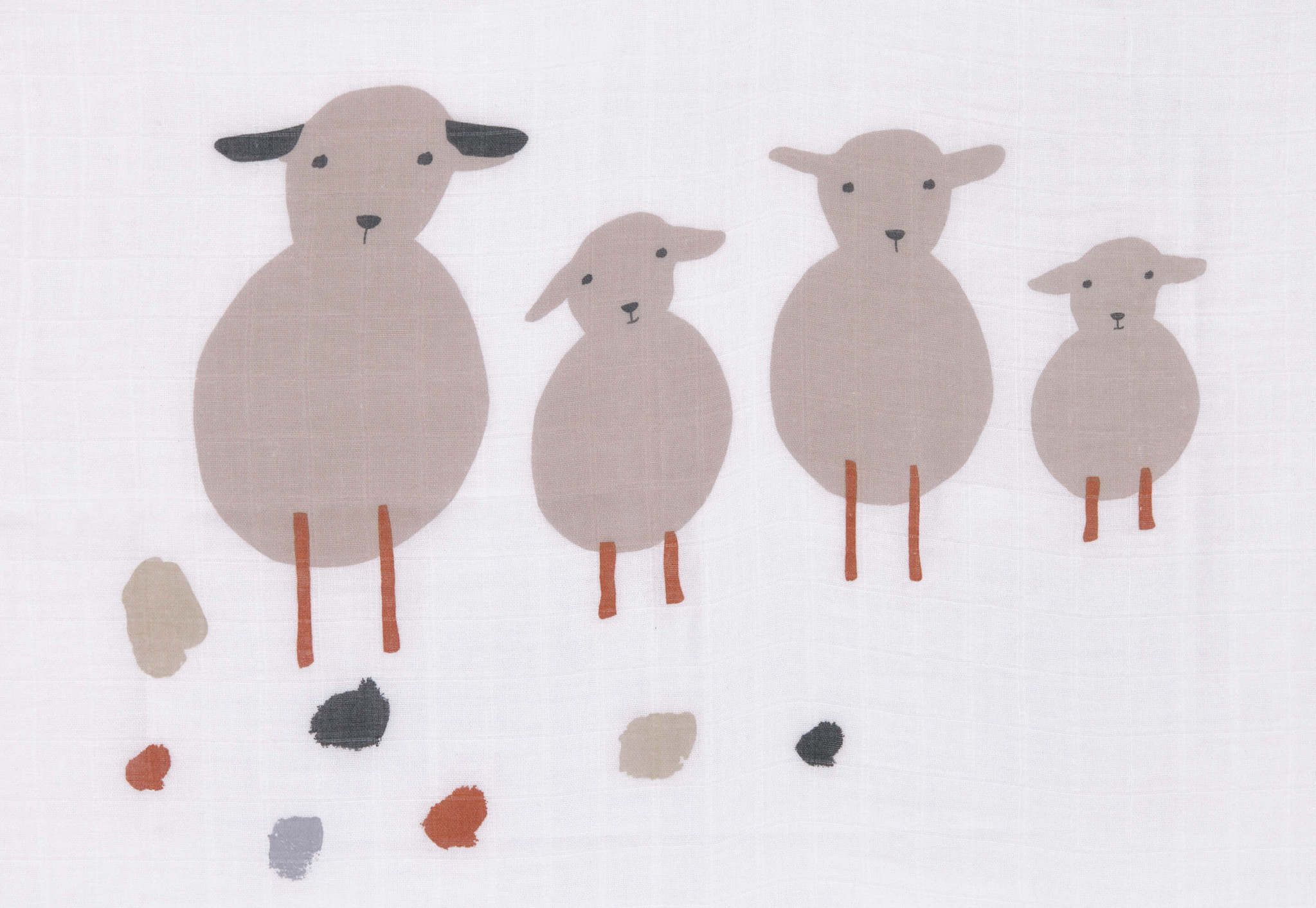Lässig Lässig Heavenly soft swaddle doek / luier L 3 stuks Tiny Farmer Speckles 80 x 80 cm
