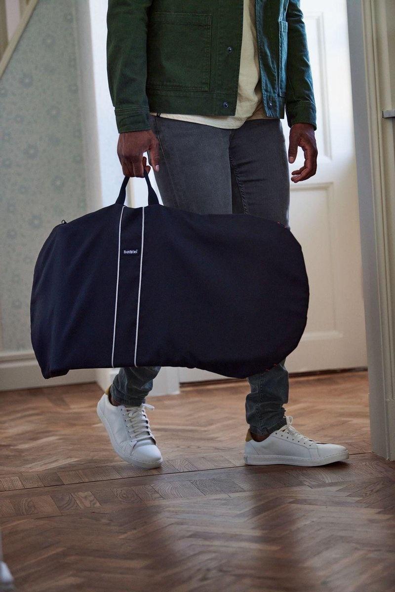 BABYBJÖRN BABYBJÖRN Wipstoeltje Bliss Zandgrijs Cotton met Transporttas Zwart