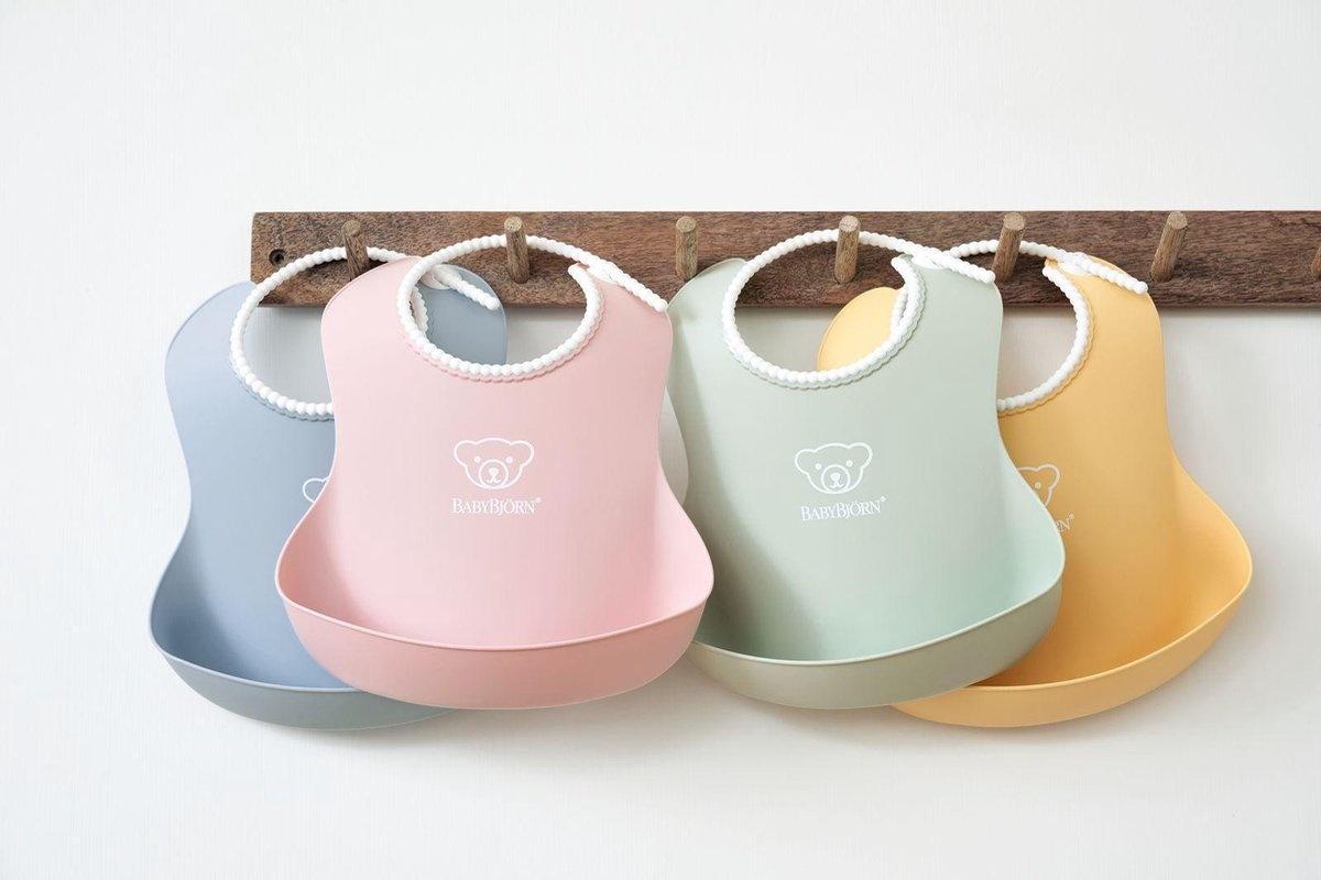 BABYBJÖRN BABYBJÖRN Baby Slabbetje groot duopack Pastelgroen/Pastelblauw