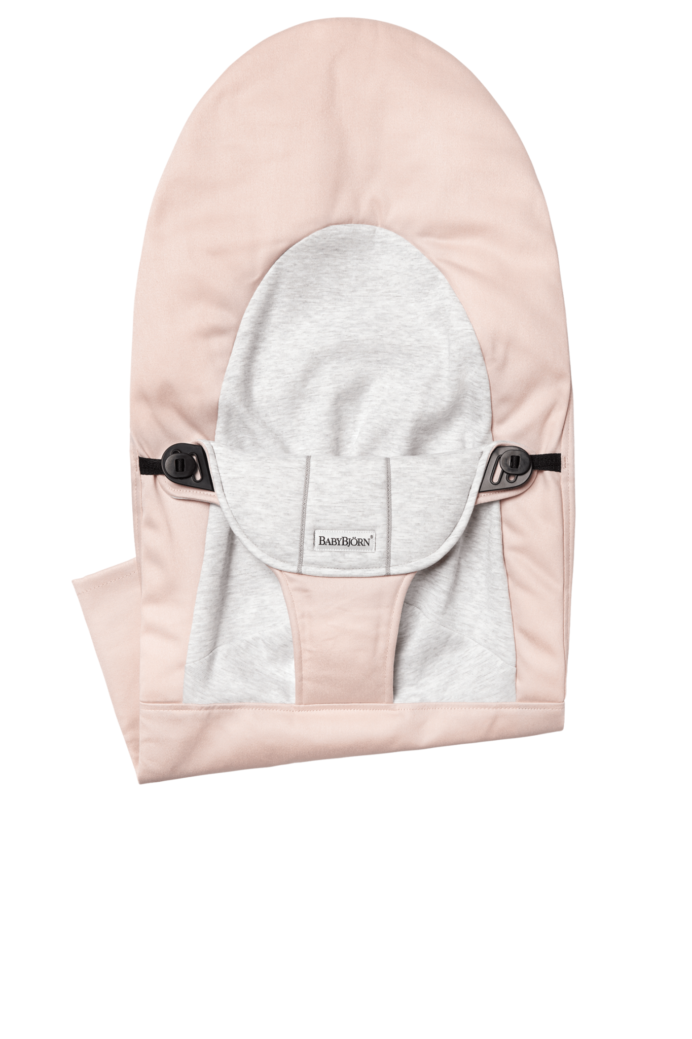 BABYBJÖRN BABYBJÖRN Stoffen Zitting Balance Soft Lichtroze Grijs Cotton Jersey