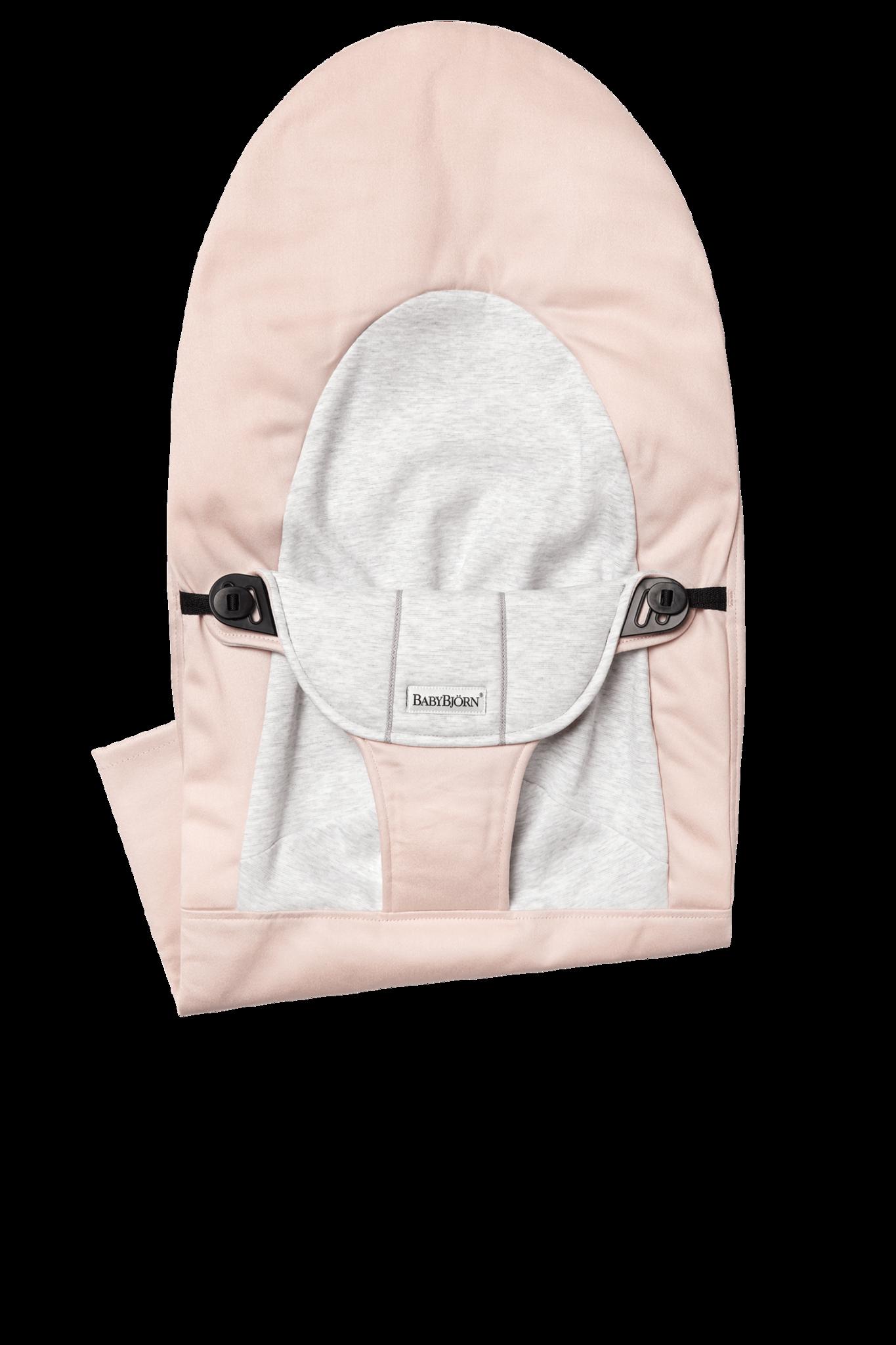 BABYBJÖRN Stoffen Zitting Balance Soft Lichtroze Grijs Cotton Jersey