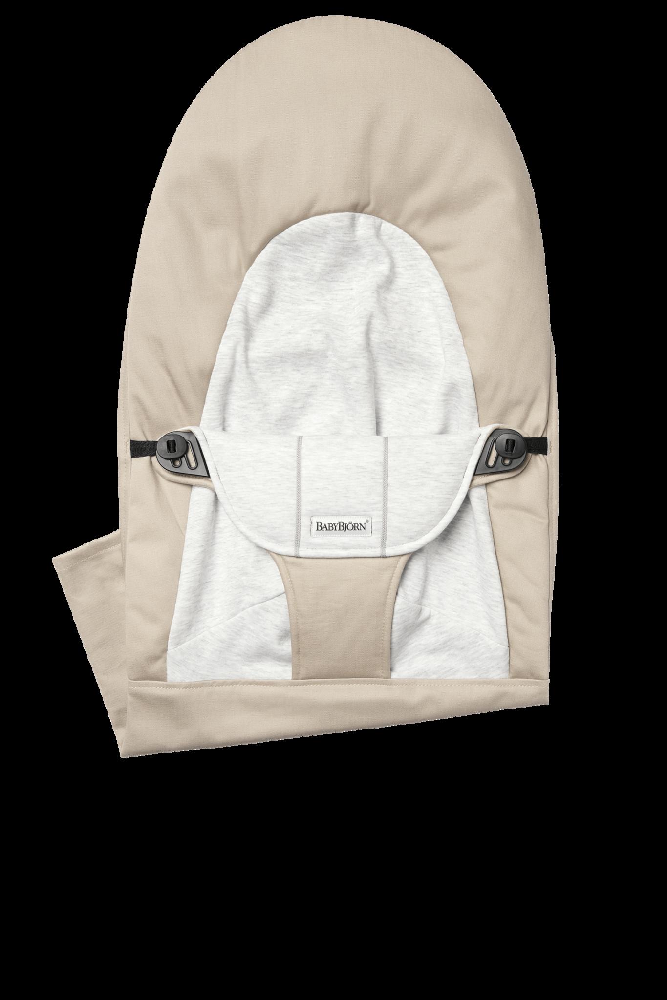 BABYBJÖRN Stoffen Zitting Balance Soft Beige Grijs Cotton Jersey