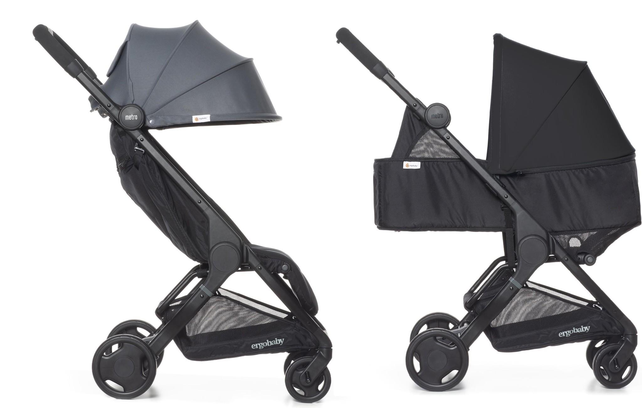 Ergobaby Metro Compact buggy 2020 grey met Newborn Kit zwart