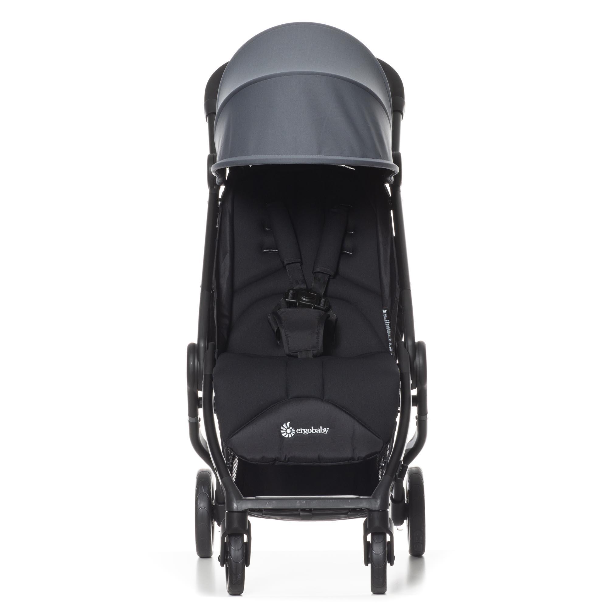 Ergobaby Ergobaby Metro Compact buggy 2020 grey met Newborn Kit zwart